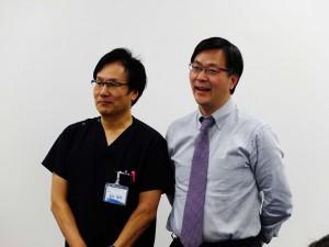 英ウィメンズクリニック研修 左 塩谷雅英 先生 右 邵輝 先生