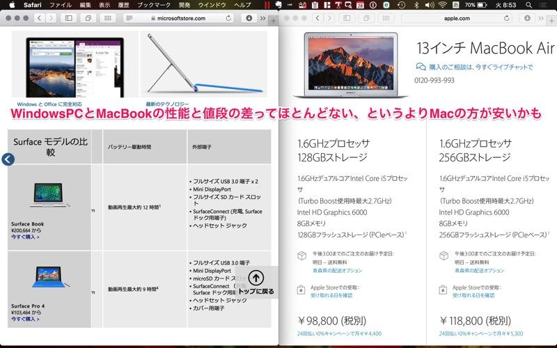 MacとWinの価格